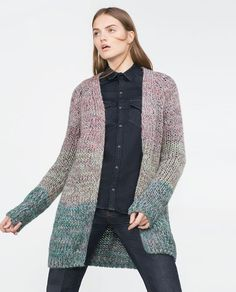 Image 2 of MULTICOLOURED GRADIENT YARN JACKET from Zara