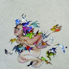 Fay Ku - Bird Like - graphite, ink and watercolor on handmade Indian Paper - 2007 - Private Collection