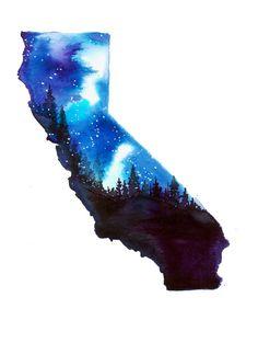 California Stars print from original by JessicaIllustration