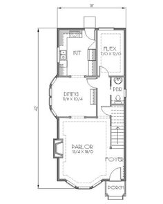 Traditional Style House Plan - 3 Beds 2.50 Baths 1470 Sq/Ft Plan #423-41 Floor Plan - Main Floor Plan - Houseplans.com