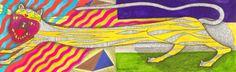 """Saatchi Arte Artista: Daniel Levy, 2010 Acrílico Pintura """"gato grotesco"""""""