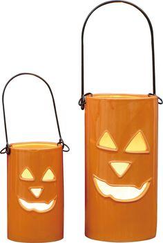 Halloween 2 Piece Jack-O-Lantern Set