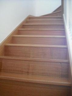 Polished Tasmanian Oak staircase