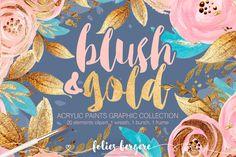 Blush & Gold Clipart Boho Chic Flower Wreath Peach Navy Gold Glitter Turquoise Pink Azure Floral Digital Clipart Wedding Stationary DIY Pack by KaramfilaS on Etsy https://www.etsy.com/uk/listing/278818118/blush-gold-clipart-boho-chic-flower