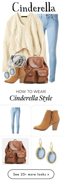 """Cinderella"" by hp4ever15 on Polyvore featuring moda, Genetic Denim, Marc by Marc Jacobs, Brunello Cucinelli, Coach, Charlotte Russe y Armenta"