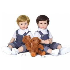 Two Color Hair, Baby Jeans, Baby Powder, Reborn Babies, Synthetic Hair, Kids Playing, Brown Hair, Baby Dolls, Doll Clothes