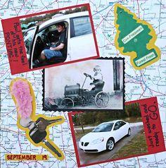 Car scrapbook page photo