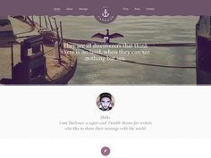 Harbour is a one-page personal/portfolio website template that you can use for inspiration. Free PSD designed byNiall MacFarlane.