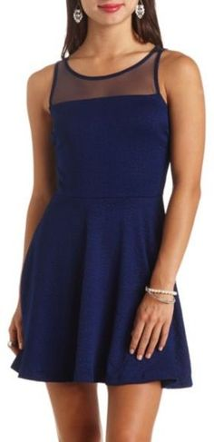 Navy Skater Dress by Charlotte Russe. Buy for  17 from Charlotte Russe 7cf203885