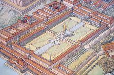 - Roma (Rome) - Republic under Nero - Vestibule Architecture Antique, Greece Architecture, Classical Architecture, Historical Architecture, Villa Hadriana, Architecture Romaine, Rome City, London City, Gizeh