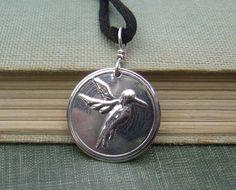 Sweet  Hummingbird Sterling Silver Stamped by nicholasandfelice, $14.00