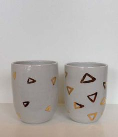 Ceramic Triangle Tumblers from Mr Sparrow via The Third Row