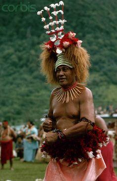 Samoan Chief in Traditional Dress