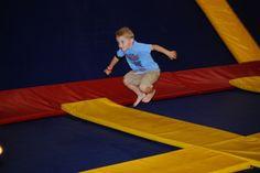 Wear shorts, you'll get hot jumping with your kids! Jump Sky High - Rancho Cordova, CA - Kid friendly activity reviews - Trekaroo