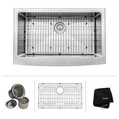 Kraus KBU24 32 inch Undermount 60/40 Double Bowl 16 gauge Stainless Steel Kitchen Sink | Kitchen Sink Shop