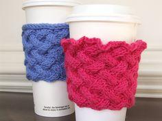 New Pattern: Trellis Cup Cozy | Suzyn Jackson Gonzalez
