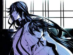Touken Ranbu - Izumi no Kami Kanesada - Horikawa (Both are Hijikata's sword) ><