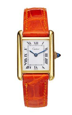 Gold Vermeil Vintage Cartier Tank by LSC Design Estate Jewelry for Preorder on Moda Operandi