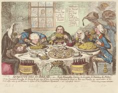 Substitutes for bread by James Gillray. courtesy of Yale Centre for British Art