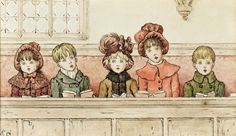 Children at Church by Kate Greenaway, 1879