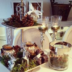 Beachy Colors, Shine The Light, Tiered Stand, Christmas Decorations, Table Decorations, Wonderful Time, Table Settings, Sweet Home, Fall Winter