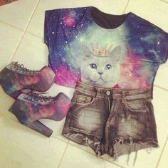 i love this!! galaxy clothes