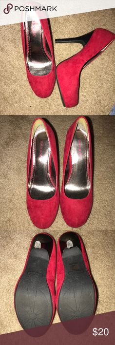 a7e18f4ea66 Red Bamboo platform pumps 8.5 Size 8.5 Gently Used Red platform heel by  Bamboo BAMBOO Shoes