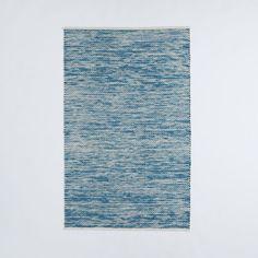 Painter's Cotton + Wool Rug - Aquamarine   West Elm