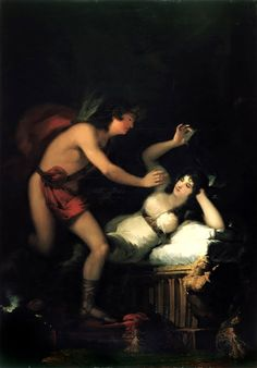 Francisco Goya, Allegory of Love, Cupid and Psyche [?] (1798 - 1805) on ArtStack #francisco-goya #art