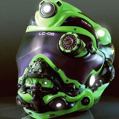 4 Awesome Helmet Concept Timelapse by Ryan Love - zbrushtuts Custom Motorcycle Helmets, Custom Helmets, Women Motorcycle, Airsoft Gear, Tactical Gear, Taktischer Helm, Helmet Armor, Sci Fi Armor, Armor Concept