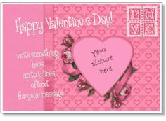 Valentines day photo card template valentines day pinterest valentines day photo card template valentines day pinterest free printable valentines printable birthday cards and free printable pronofoot35fo Image collections