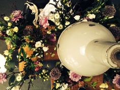 Flower Preparation meets Bauhaus Style in our Loft for the Big Day.