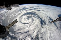Looking down on creation: Astronaut Alexander Gerst captures swirling cloud formations fro...
