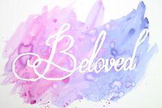 DIY Watercolor Wording Art Print