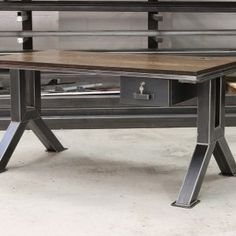 Engineering Desk by Steel Vintage
