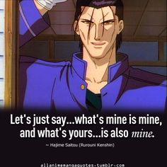 Hajime Saitou - Rurouni Kenshin Hmm, I'm not sure whether to Pin this to Manga or Cbeppa ~*