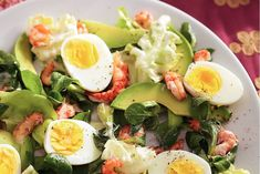 Kijk wat een lekker recept ik heb gevonden op Allerhande! Salade met ei en rivierkreeftjes
