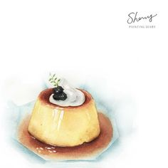 Desserts are delicious, and if you can paint them on paper, . Cute Food, Good Food, Food Art Painting, Dessert Illustration, Watercolor Food, Mouth Watering Food, Food Drawing, Cupcake, Food Illustrations