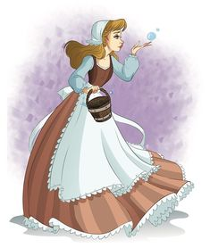 Cinderella the kind servant girl with bubbles Arte Disney, Disney Fan Art, Disney Love, Disney Magic, Disney Stuff, Disney And Dreamworks, Disney Pixar, Disney Characters, Gravity Falls