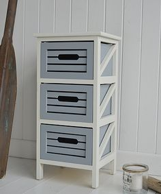 Make Photo Gallery Beach House Drawer Storage Ivory and grey furniture Bathroom