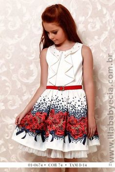 Vestido Infantil Estampado Diforini Moda infanto Juvenil 010674