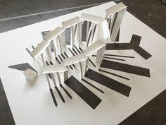The final iteration of my model. I split the path. #yiyang #48105 #folding #fold #folds #trees #leaves #banyan #YIII #YIIII