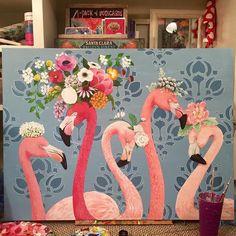 """New Money""- Heather Gauthier Art Original flamingo Acrylic Painting Flamingo Painting, Flamingo Decor, Pink Flamingos, Pink Bird, Animal Paintings, Acrylic Painting Animals, Acrylic Art, Bird Drawings, Painting Inspiration"