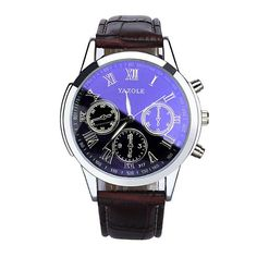 Mens Blue Ray Glass Watches