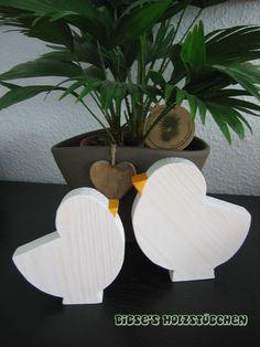 zweiteiliger Schriftzug Ostern aus 2,4cm dickem Pappelholz