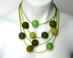 felt necklace by frankideas on etsy