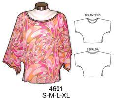 Patrones para hacer blusas fáciles - Imagui