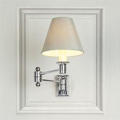 Adjustable Wall Lights   Elegant Hinged Arm Wall Light   Jim Lawrence