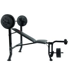 Marcy 80-pound Weight Set Workout Bench | Overstock.com Shopping - The Best Deals on Home Gyms