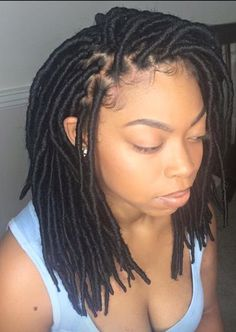 What do you guys think of these shoulder length faux locs?.....we  it..